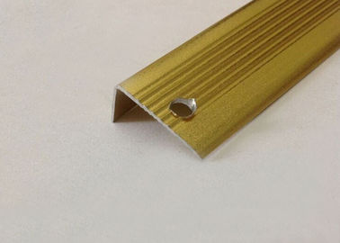 China Xinyu Gold Tile Trim extruded aluminum angle For Cleanroom Construction distributor