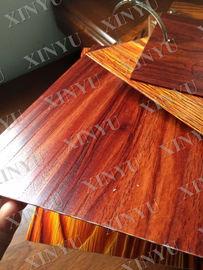 China Wood grain transfer Aluminium Window Profiles for decoration material distributor