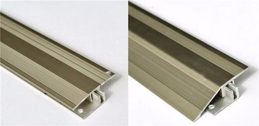 China Gold and Champage Anodized Color Aluminum Extrusion Profiles for Flooring Thicknesses 7-17,5 mm distributor
