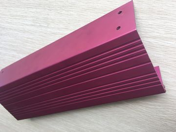 China Pink Anodized Standard Aluminum Extrusion Profiles With Cnc Drilling And Tapping factory
