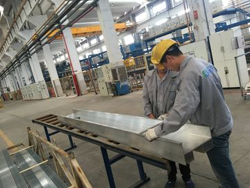 China QC Checking Industrial Aluminum Extrusion Profiles with PVDF coating Surface distributor