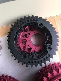 China Red / Black Anodized CNC Machining Parts for Bicycle Accessories / Toothed Wheel factory