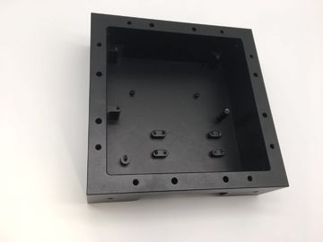 China Black Anodized 4 Axis CNC Machining Parts Enclosure Square Parts factory