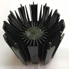 China CNC Machining LED Module Street Light Aluminum Heat Sink Profiles With Black Anodizing distributor
