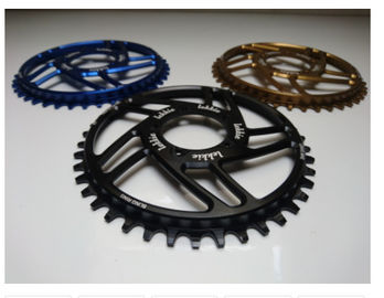 7075-T6 Aluminum Color Anodized Race Face 104mm Single Chain Ring 4mm Plate Thickness