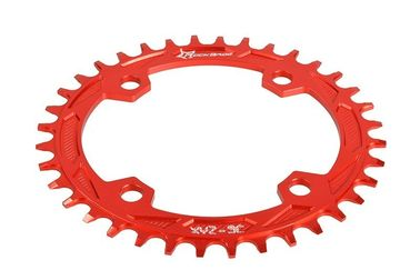 China Red Anodized Bike Sprocket / Freewheel CNC Machining Parts for Road Bicycle factory