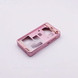 China High Precision Aluminum Cases CNC Machining Parts In Pink Color Anodized distributor