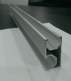 China OEM 6063 Anodized Extrude Aluminium Corner Rail & Solar PV Extruded Aluminum Mounting Rail distributor