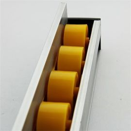 China Higher Side Aluminum Extruded Shapes Track Yellow Wheel 4 M 34mm Diameter factory