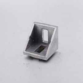 China 45 Degree Angle Connector T Slot Aluminum Extrusion With Cap 20x20 Corner Bracket factory