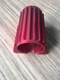China Red Colour Anodized Aluminum Extrusions Motor Housing With Tapping And Drilling factory