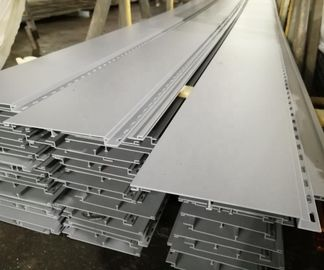 China Sand Matt Powder Coating Aluminum Extrusion Profiles For Aluminum Plank distributor