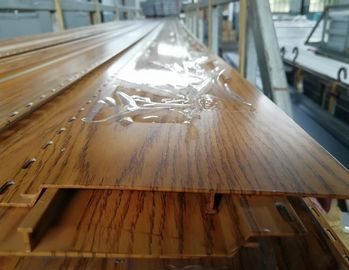 China Plank / Decking / Flooring Aluminium Extruded Profiles With Wooden Color distributor