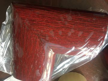 China 45 Degree Aluminum Extrusion Parts Welding Handrail Wooden Color Surface For Vessel And Boat distributor