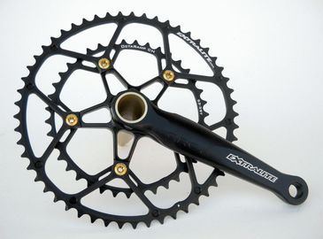 China 7075 Aluminum Alloy Profile Highway Compression Crankset / Platter 53/39T Bike Gear factory