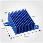Custom Design Profile Extruded Aluminium Heat Sink Profiles 40mm With Blue Anodized